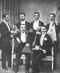 Кружок любителей игры на балалайках во Франции в 1892 году